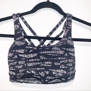Lululemon Sports Bra Size 4 Black & White